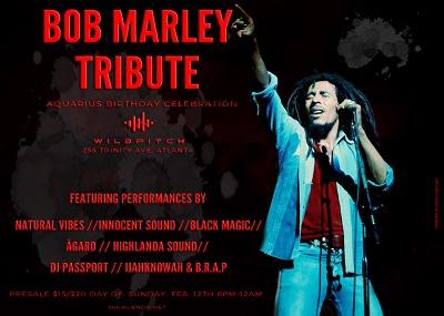 3rd Annual Bob Marley Birthday Tribute & Aquarius Birthday Celebration