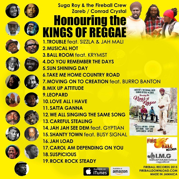 Suga Roy & The Fireball Crew Honoring The Kings Of Reggae