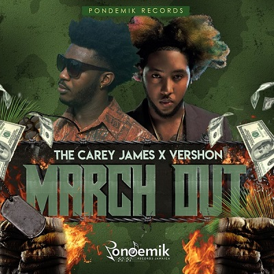 The Carey James feat Vershon March Out New single