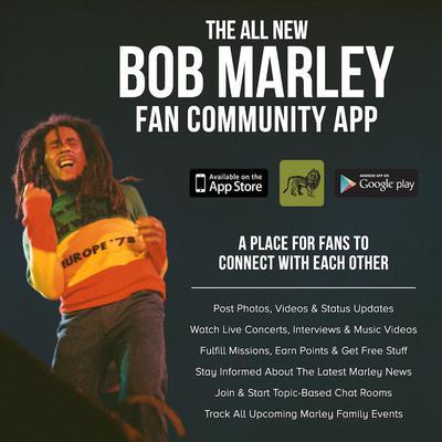 Bob Marley Fan Community App Lanuched!