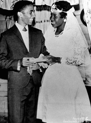 Bob Marley and Rita's Wedding Photo