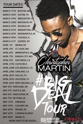 The Martins Tour Schedule