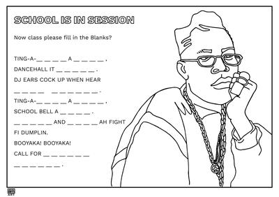 School is in Session, A Page from the Dancehall Coloring & Activity Book by Robin Clare