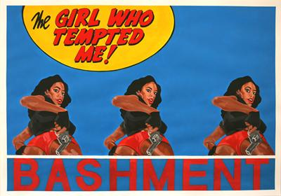 Bashment, Acrylic on Paper, 100cm x 70cm