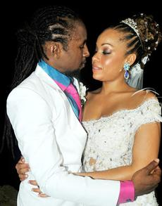Jahcure and his wife Kamila