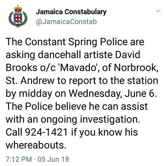 mavado wanted by police