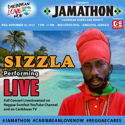 Sizzla Kalonji is amongst the mega stars generously donating their performance for the cause