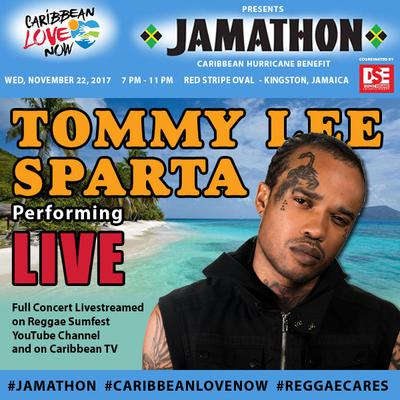 Tommy Lee Sparta is amongst the mega stars generously donating their performance for the cause