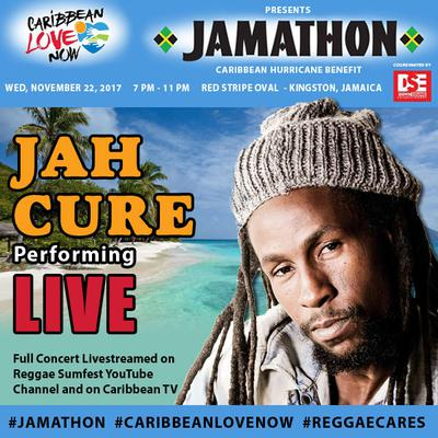Jah Cure is amongst the mega stars generously donating their performance for the cause