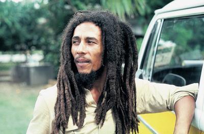 Reggae artiste Bob Marley