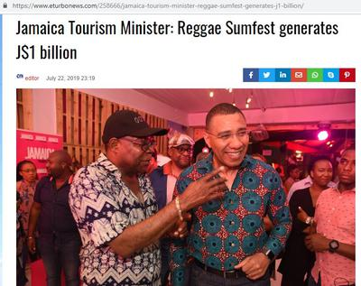 Reggae Sumfest 2019 Brings in $1 Billion J Dollars to Montego Bay