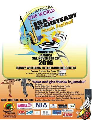 Ska & Rocksteady Music Festival For Kingston, Jamaica