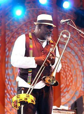 Reggae Music Trombonists Ronald 'Nambo' Robinson