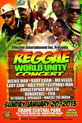 Reggae World Unity Concert