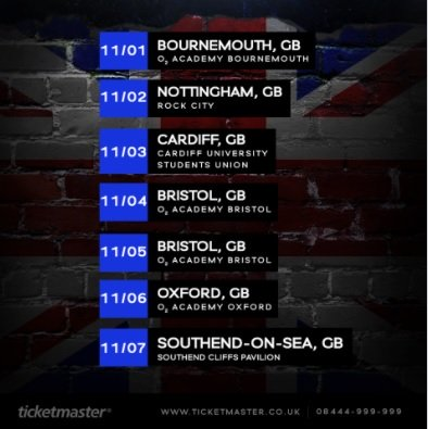 Three dates have already SOLD-OUT make sure you get your tickets soon!