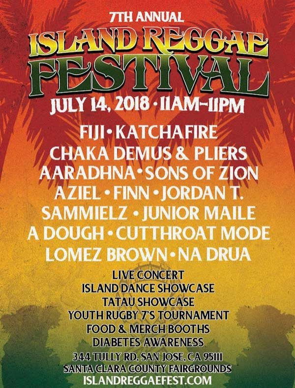 Island Reggae Festival, July 14 2018 in San Jose, CA