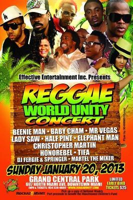 Reggae World Unity Concert